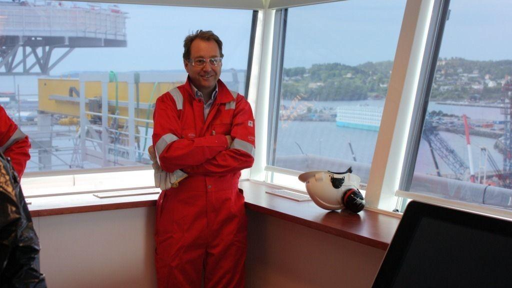 Kjell Inge Røkke på broa Spitsbergen
