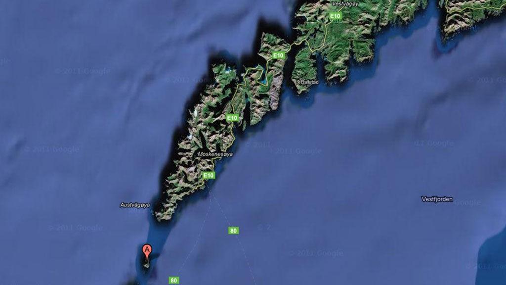 LOFOTEN: Ulykken skjedde ved øya Mosken utenfor Lofoten.