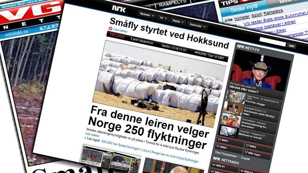 STØRST:NRK.no har passert VG Nett for første gang, og er nå størst på nett blant norske nettsteder