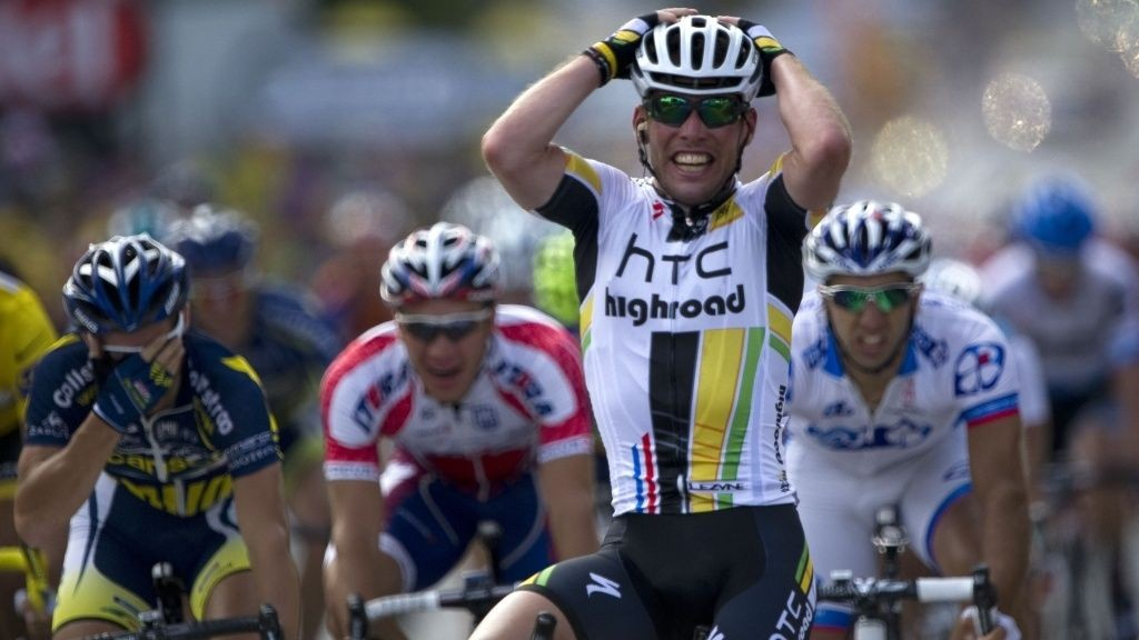 Mark Cavendish (HTC) vinner 7. etappe Topur de France