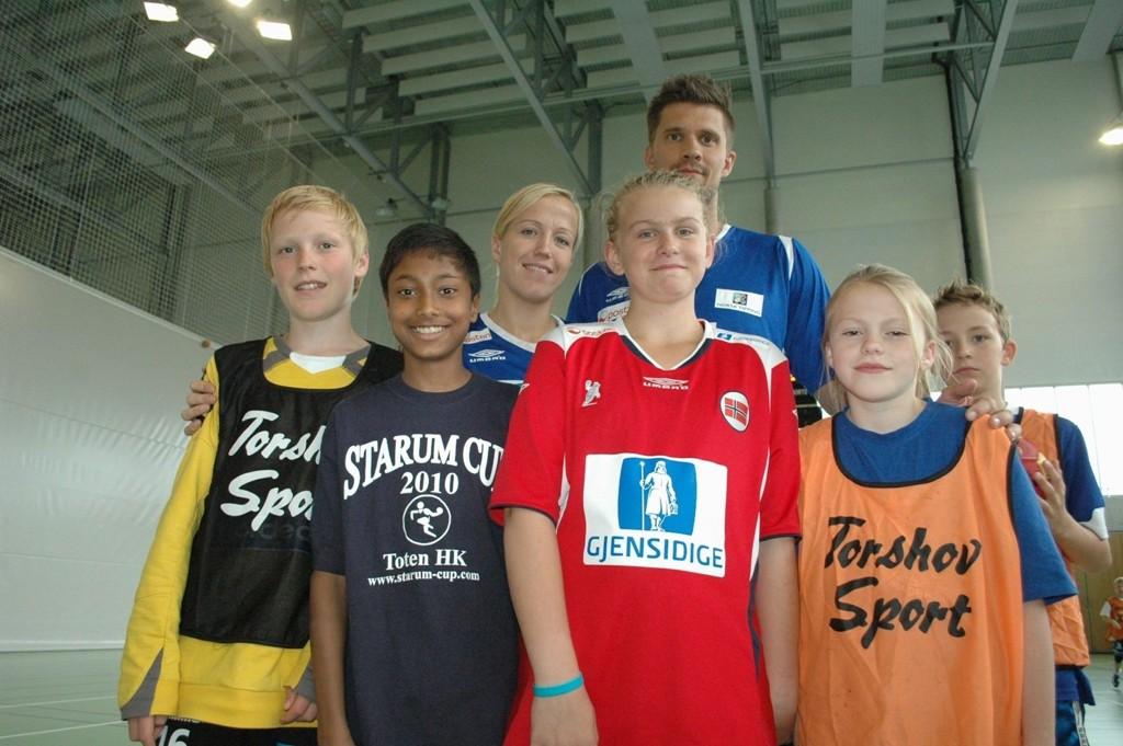 Lars Erik Lunde Halbrendt, Thomas Bakke, Camilla Flåt og Rebekka Kvalheim fikk møte idolene Heidi Løke og Kristian Kjelling.