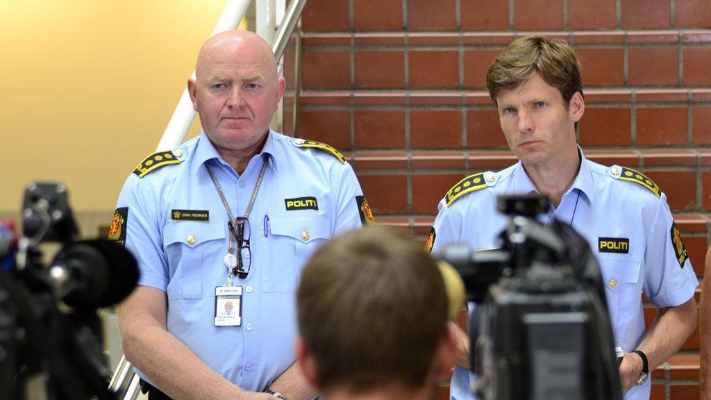 INGEN KOMMENTAR: Johan Fredriksen og Pål-Fredrik Kraby kom ikke med mye nytt på dagens pressekonferanse.