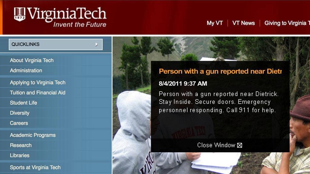 ADVARSEL: Denne beskjeden ble lagt ut på universitetets hjemmeside.