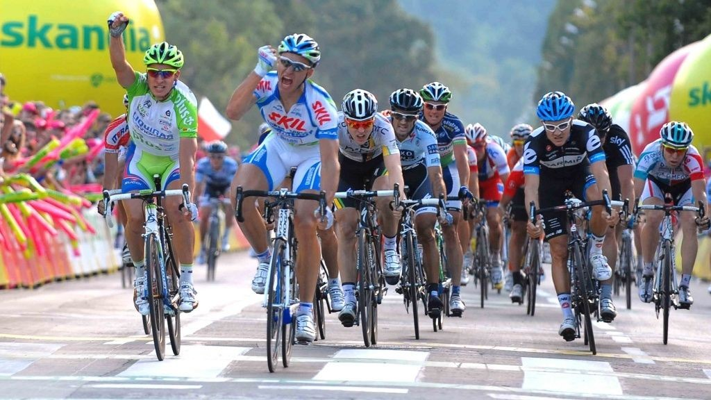 Marcel Kittel (Skil-Shimano) og Peter Sagan (Liquigas) i Polen rundt.