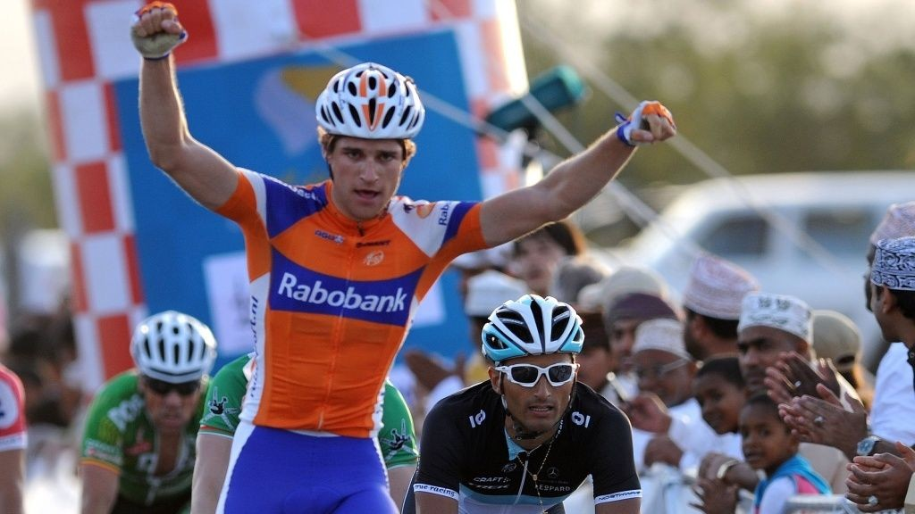 Theo Bos (Rabobank) under Tour of Oman 2011
