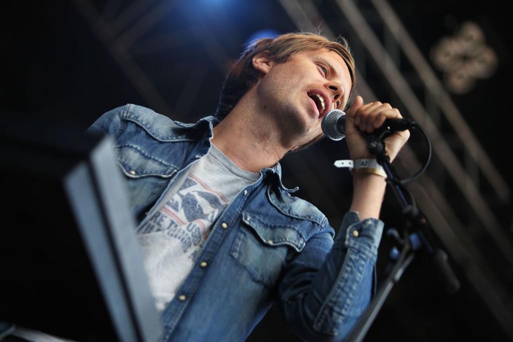 Real Ones serverte låter fra sine kritikerroste album på Sjøsiden torsdag. Her ved vokalist David Chelsom Vogt.