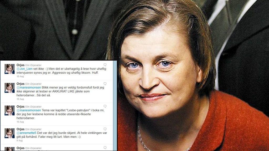 """Foredragsholder, kommentator og tidligere programleder i """"Luksusfellen"""" Elin Ørjasæter er irritert på homobladet Blikk."""
