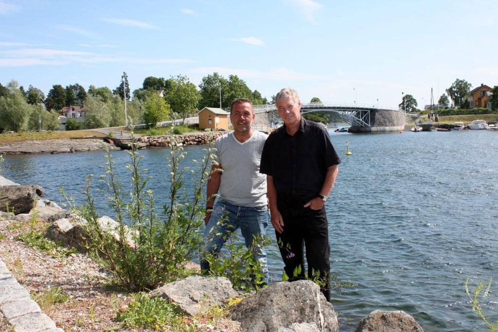 Eivin Sundal i Bekkelaget arbeiderpartilag og Rune Gerhardsen håper mange kommer til Ceresbrygga torsdag kveld.