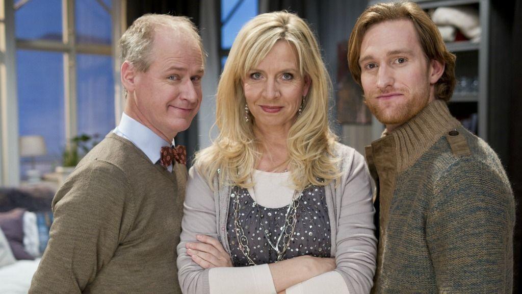 Sara og Selma: Håkan (Robert Gustafsson), Sara (Hege Schøyen) og Thomas (Henrik Holmen)