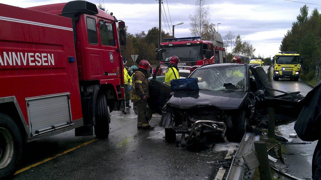 SMADRET: Politiet betegner ulykken som alvorlig.