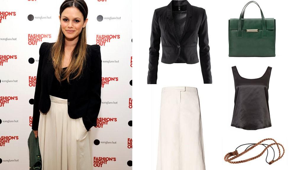 RACHEL BILSON på den røde løperen i forbindelse med Vogue`s Fashion Night Out.