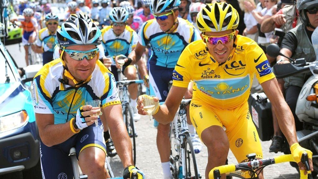 Sergio Paulinho og Alberto Contador