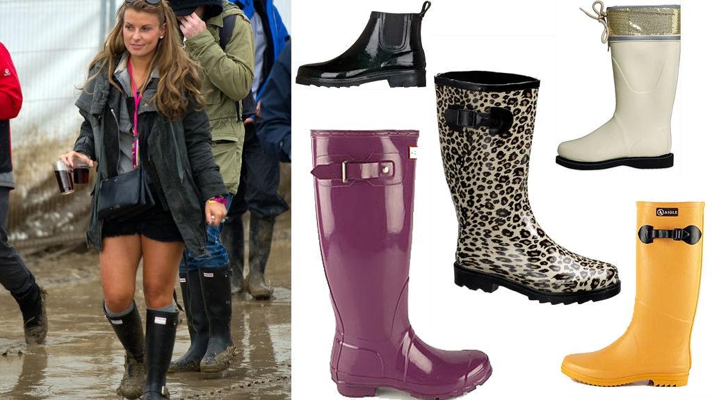 COLEEN ROONEY går for de klassiske Hunter-støvlene. Men det finnes et hav av farger og mønster å velge i mellom.