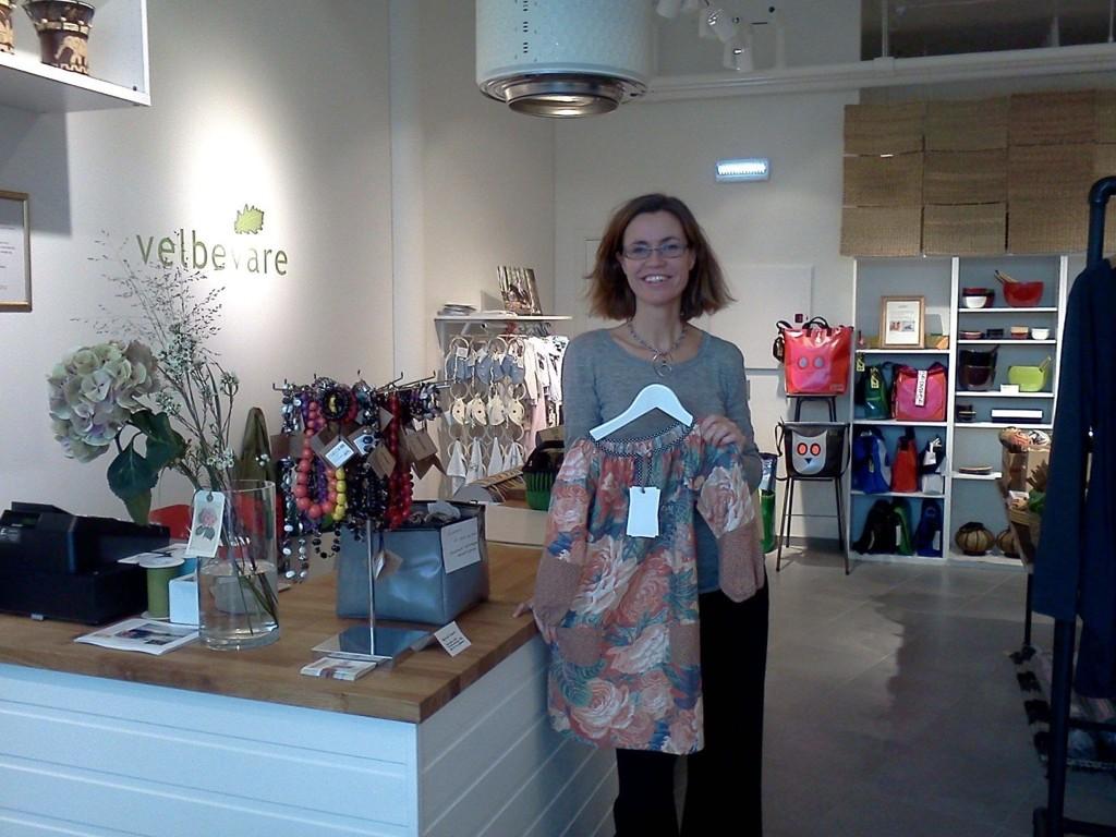 PÅ HOLTET: Innehaver Christine Aulie er stolt av sin butikk Vel Bevare som åpnet i august.