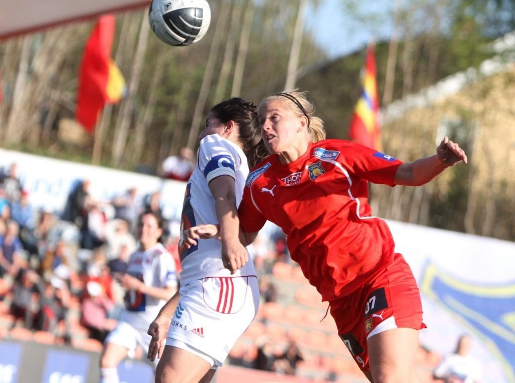 SNUDDE KAMPEN: Elise Thorsnes scoret to mål mot Klepp og snudde 0–1 til 2–1 seier.