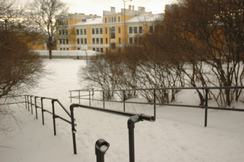 Parken bak Uranienborg skole. Arkivfoto