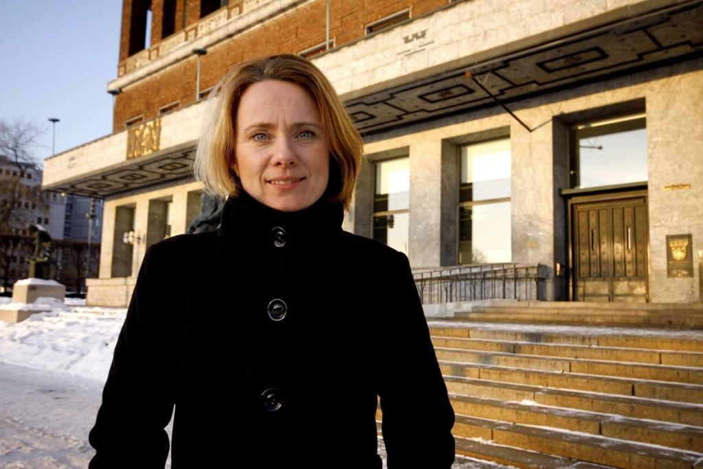 Sosialbyråd Anniken Hauglie sier at hun gjerne vil ha et overnattingstilbud til Romfolket i år, som i fjor.