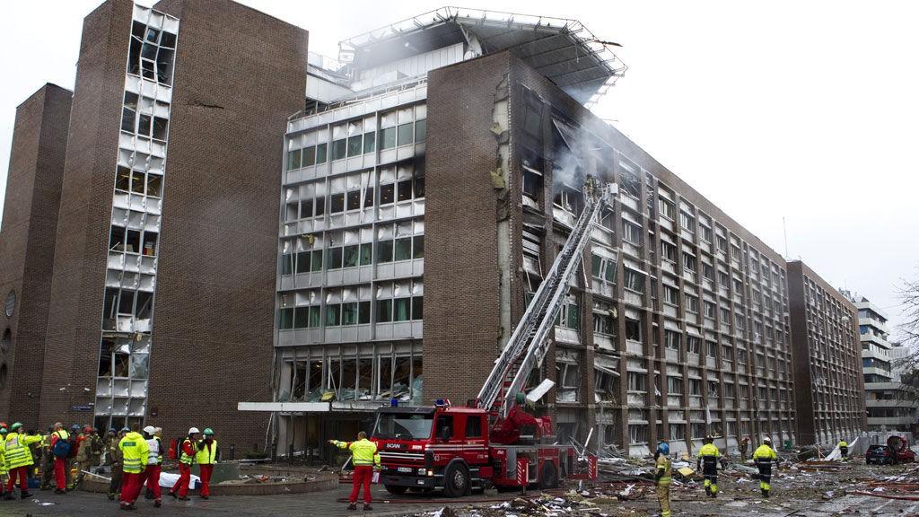 SMADRET: R4 fikk store skader under eksplosjonen 22. juli.