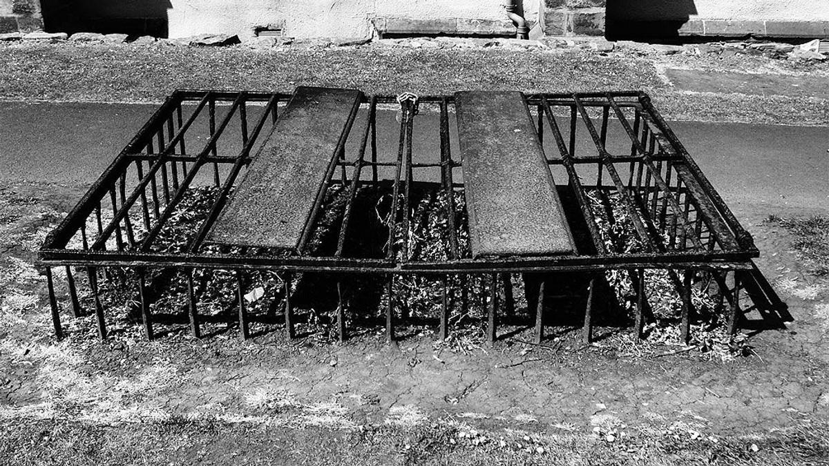 Mortsafe in Greyfriars Kirkyard, Edinburgh.