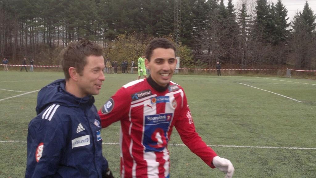 Her er Mos i torsdagens treningskamp på Hafslund-banen mot nettopp Vålerenga.