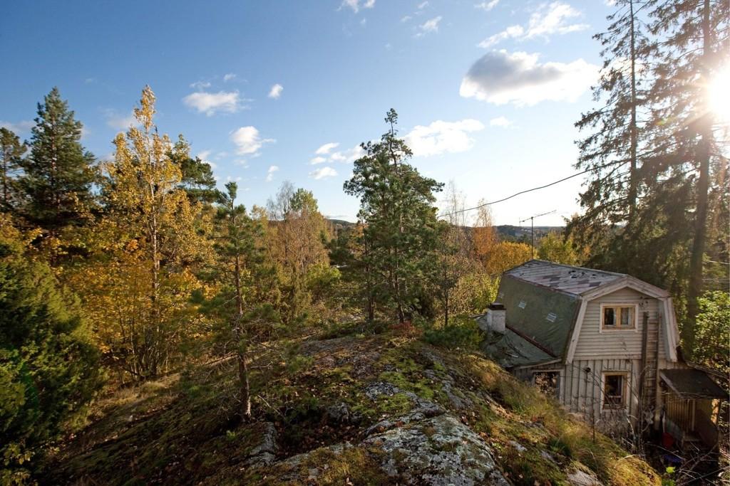 STORT POTENSIALE: Huset i Bakketoppen 14 er falleferdig, men eiendommen har store utviklingsmuligheter.