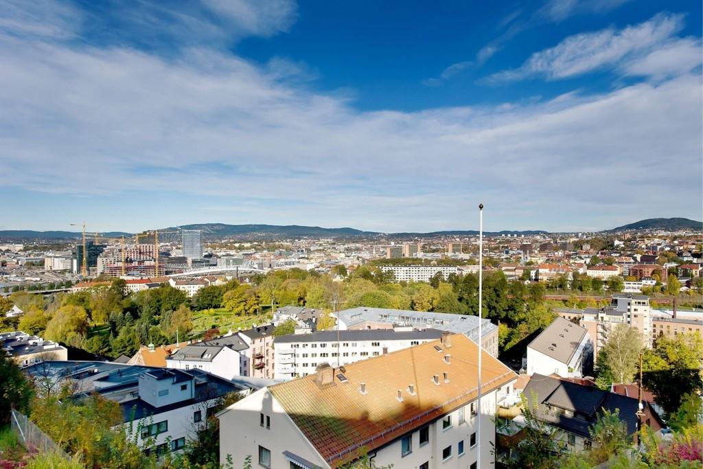 UTSIKT: Ekebergveien 19L har flott utsikt og kjøper måtte ut med 53.846 kroner kvadratet.
