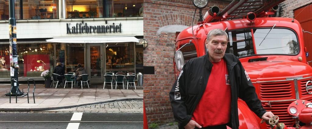 Det er ingen splid mellom Kaffebrenneriet og Brannmuseet selv om sistnevnte har kjempet en tapt kamp for å få bruke den store vognhallen til utstilling av sine seks veteranbrannbiler.