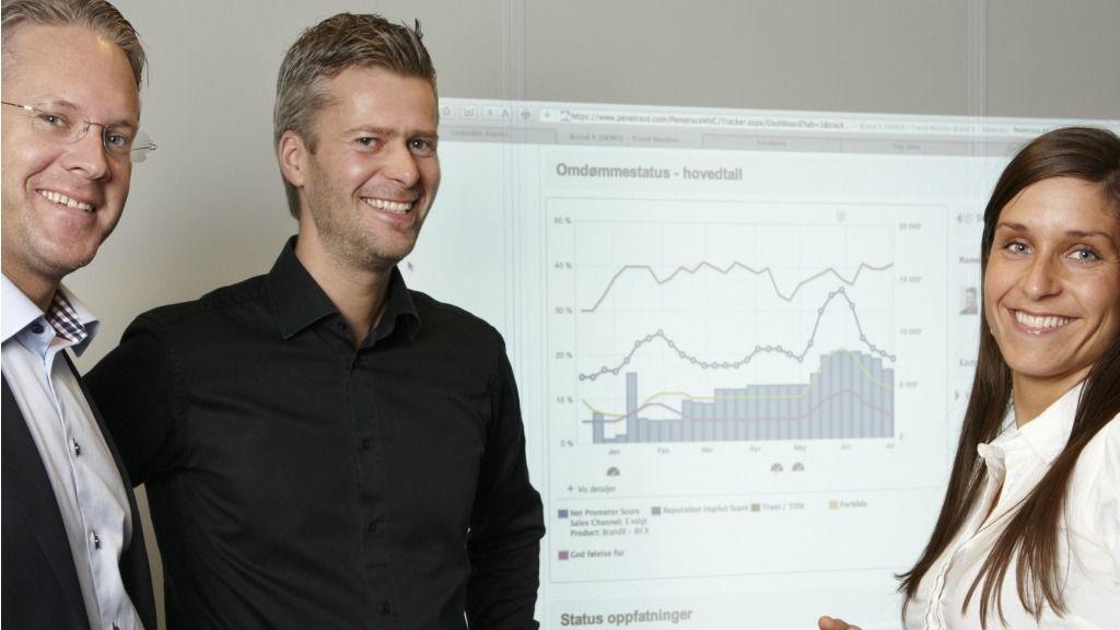 Espen Viskjer, kommersiell direktør, Retriever, Henning Tunsli, adm. direktør, Penetrace og Kristina Nilsen, nordisk analysesjef.