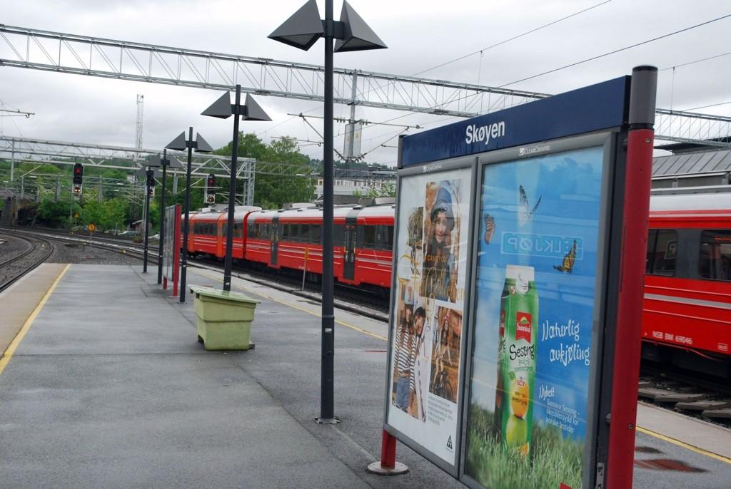 INGEN NATTERO: På begge sider av Skøyen stasjon, både mot Lysaker og mot sentrum, blir det nattarbeid helt frem til julaften.