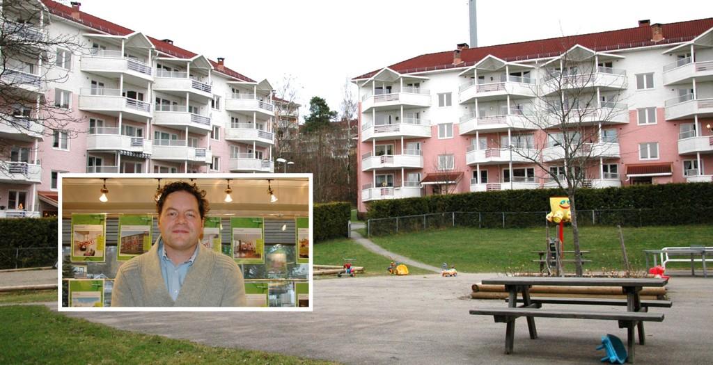 POPULÆR BYDEL: Eiendomsmegler Mats Kvarud tror prisene i Bydel Østensjø fortsatt vil stige litt. Han trekker frem kort vei til sentrum og nærhet til marka som to av bydelens fortrinn .