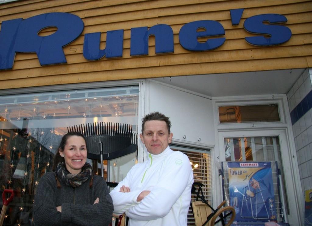 ROSER: Solveig og Rune Vedal roser både vekter og politiets innsats etter innbruddsforsøket forleden natt. .