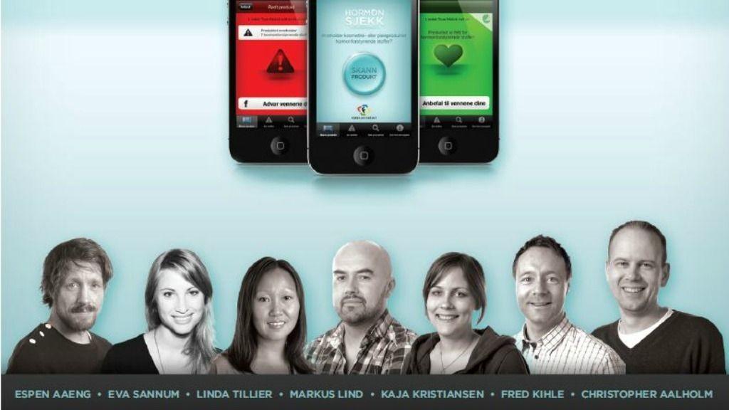 Denne måneden lot juryen seg begeistre av applikasjonen Hormonsjekk for Forbrukerrådet fra Try/Apt.