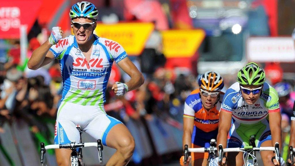 Marcel Kittel (Skil-Shimano), Oscar Freire (Rabobank) og Peter Sagan (Liquigas)