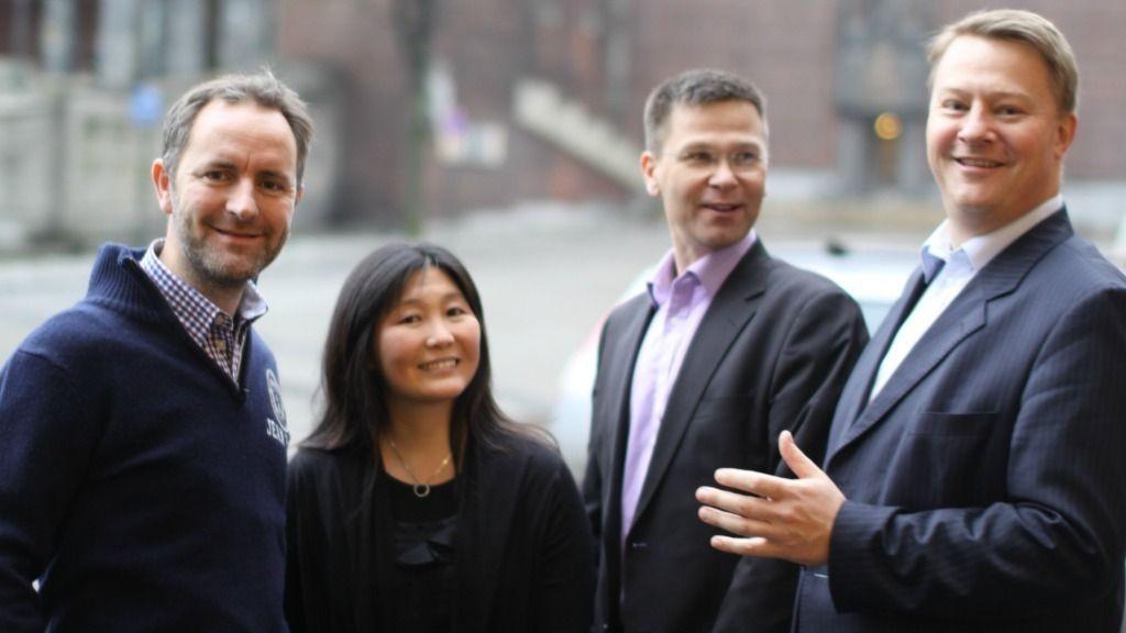 Satser offentlig: Jan Ottesen (avdelingsleder samfunnskommunikasjon), Cecilie Dahl (på Bufdir-teamet), Svein Holtan (leder den nye satsingen) og Ole Tom Nomeland (adm.dir)