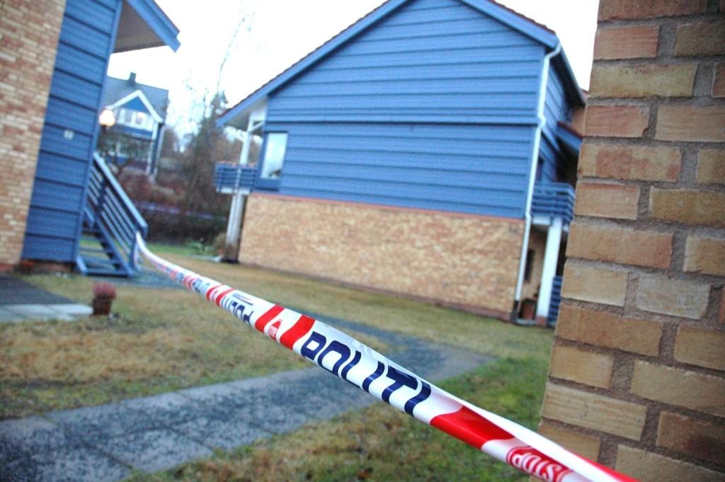 Det var i garasjeanlegget i dette borettslaget at Vegard Bjerck ble funnet drept i 2008. Mannen som var siktet for drapet ble onsdag frifunnet.