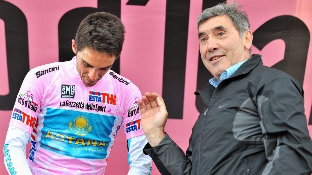 Alberto Cantador og Eddy Merckx