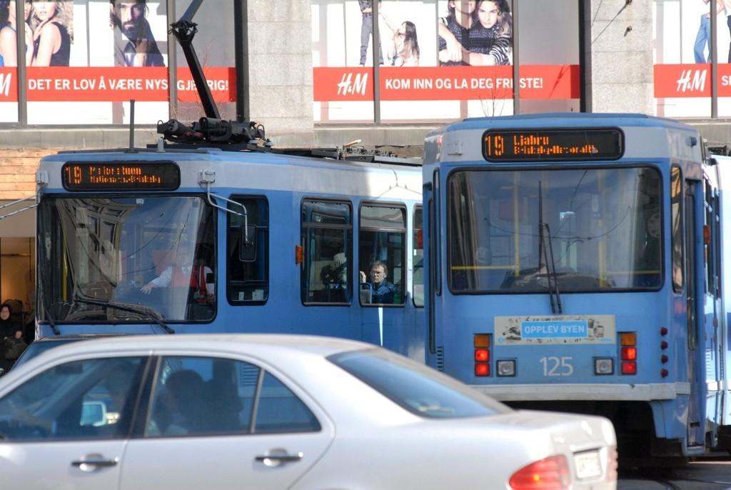 Byrådet vil ha mer trikk, mer buss, mer sykkel og langt mindre bil i Oslo sentrum.