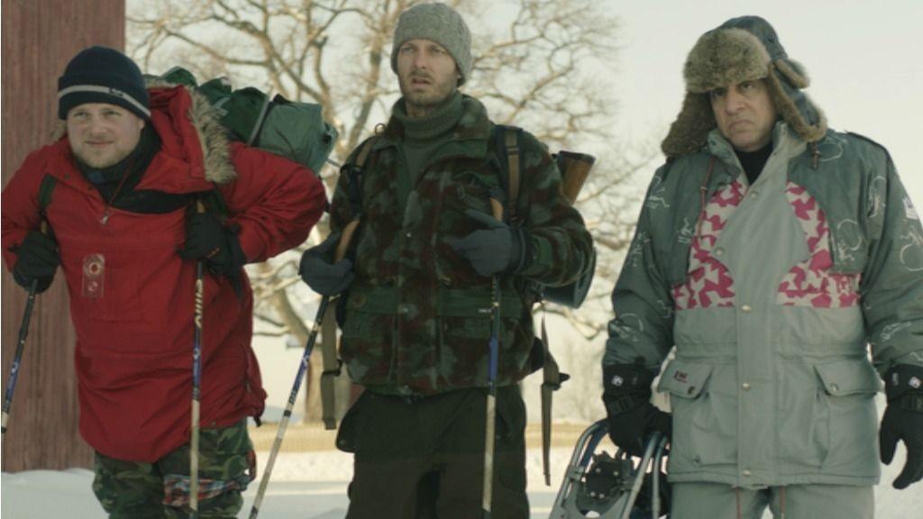 LILYHAMMER har fått oppmerksomhet i USA. Her er skuespillerne Steinar Sagen, Trond Fausa Aurvåg og Steven Van Zandt.