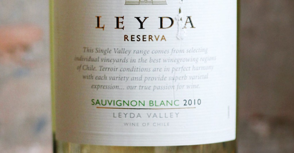 Leyda Sauvignon Blanc Reserva 2010 (best. nr. 5207401, kr 139,90, bestillingsutvalg)