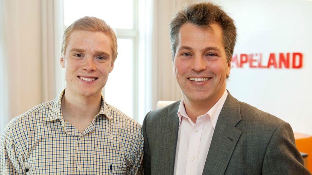 FIKK USA-STUDIER: Student Mats Julius Stensrud fikk et spennende studieopphold i USA sist sommer av administrerende direktør Ole Christian Apeland i Apeland Informasjon. Han anbefaler studenter å søke stipendet i år