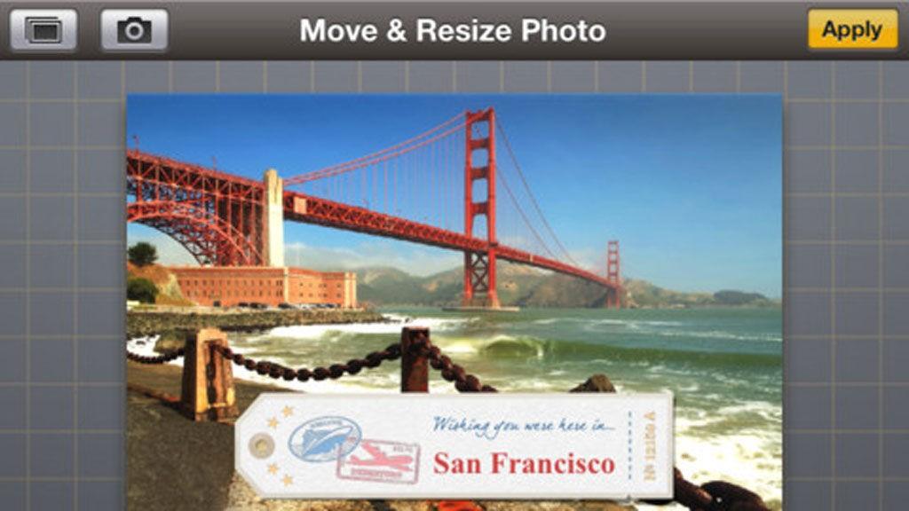 Å sende postkortet direkte fra Golden Gate Bridge i San Fransisco er nesten for godt til å være sant.