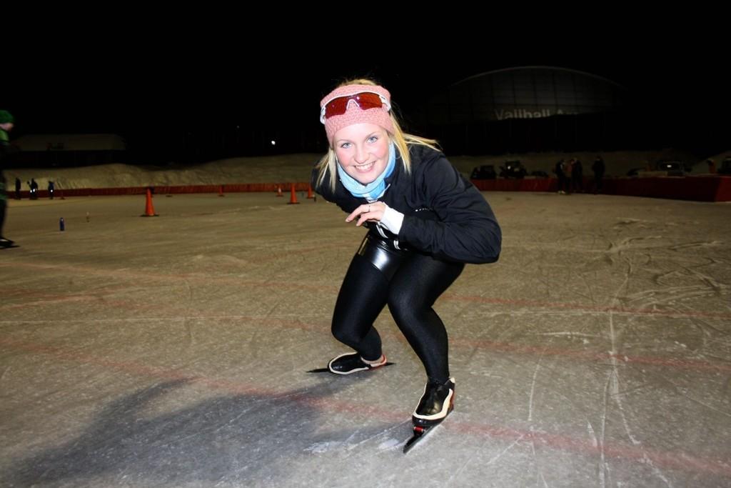 KLAR TIL START: Marichen Hagelund fra Aktiv Skøyteklubb gleder seg til skøyteløpet i Hereenveen.
