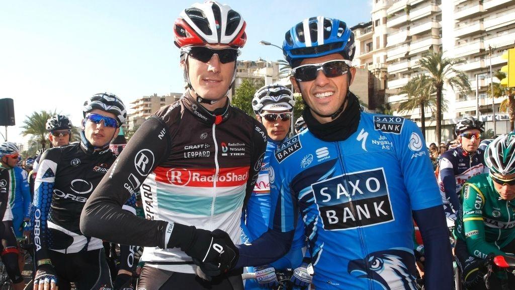Alberto Contador (Saxo Bank) og Andy Schleck (Radioshack-Nissan)