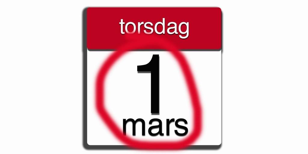 IKKE GLEM...: Det er en haug av frister å huske 1. mars. Vi minner deg på noen av dem.