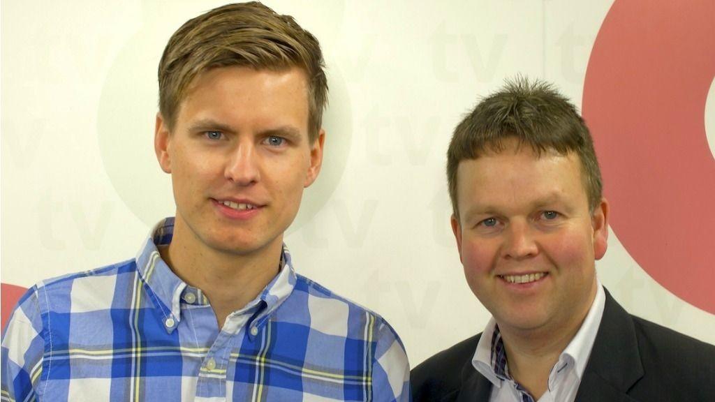 Andreas Brøvig (t.v) og Tønnes Steenersen (t.h) satser på nok en lokal TV-stasjon. Nå står Østfold for tur.