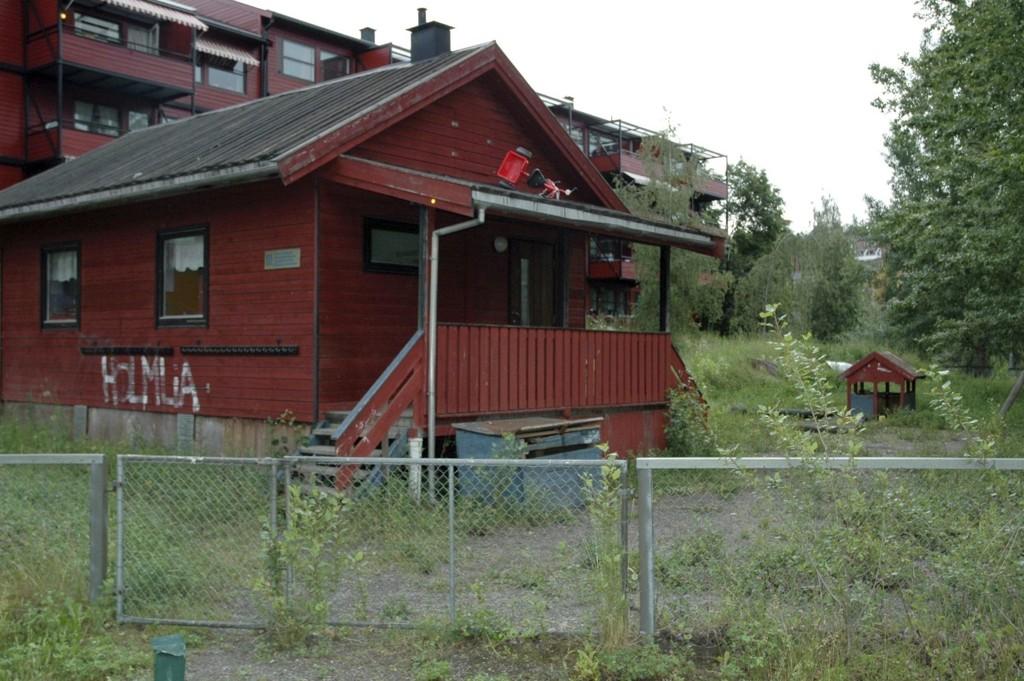 barnepark: Det røde huset som rommet Skovbakken barnepark skal tas i bruk igjen.