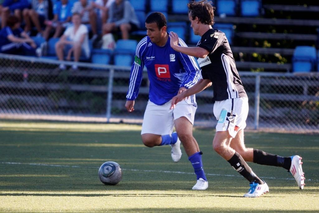 SCORET IGJEN: Karim Aoudia scoret Kjelsås' siste mål i 6-3 seieren mot Buvik