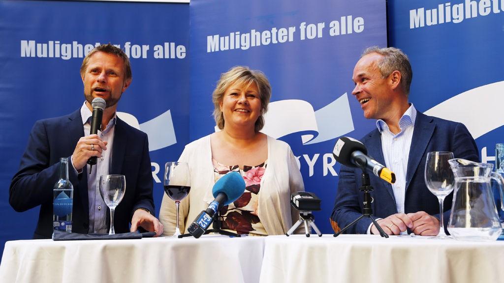 KAN SMILE HELE VEIEN TIL URNENE: Høyre hadde slått knockout på Ap, dersom det hadde vært valg i morgen.