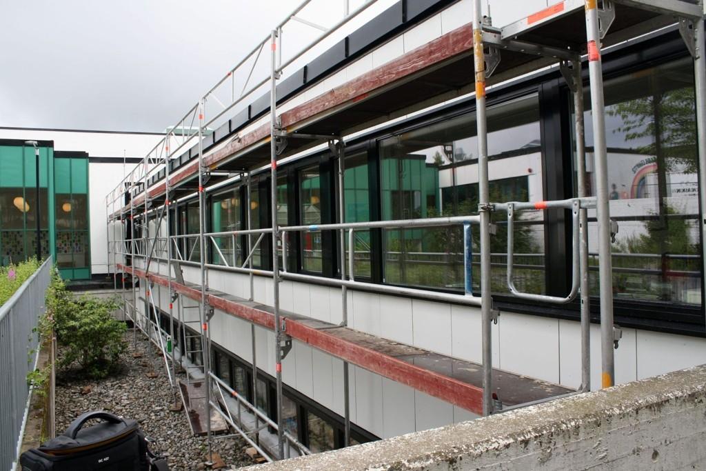 TETTERE: Prosjektet med å rehabilitere Tiurleiken skole blir i disse dager ferdig.
