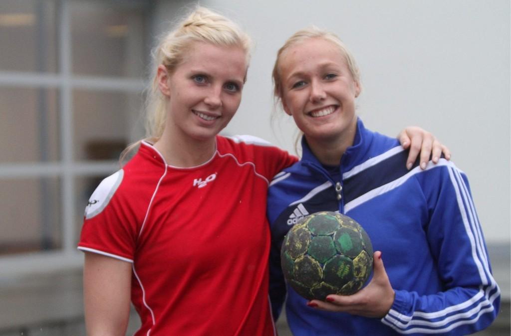 GLEDER SEG: Agnete Prytz Moe (venstre) og Lise Glosimot Kjelsberg fra Gjøvik gleder seg til å spille for Bækkelaget.